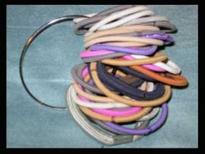 Binder ring of hair elastics